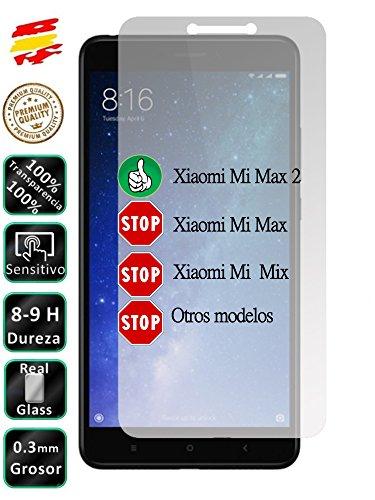 Movilrey Protector para Xiaomi MI MAX 2 Cristal Templado de Pantalla Vidrio 9H para movil