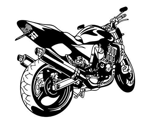 Pegatinas De Pared Motocross Calcomanía De Pared Deportes De Velocidad Extrema Motocicleta Vinilo Pegatina Para Ventana Dormitorio Adolescente Garaje Decoración Del Hogar Papel Tapiz Negro 57X64Cm