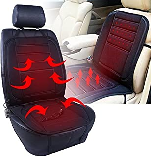 RED SHIELD 12-Volt Universal Heated Car Seat Cushion Warmer with Intelligent Temperature Control Sensor, 3 Way Temperature Switch Settings [Black]