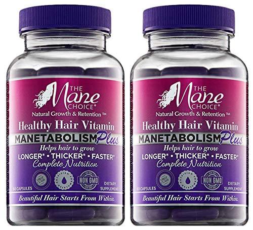 THE MANE CHOICE - MANETABOLISM PLUS: Healthy Hair Growth Vitamins (60 Capsules - Pack of 2)