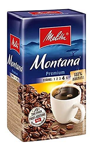 Melitta Gemahlener Röstkaffee, Filterkaffee, 100% Arabica, kräftig-feiner Geschmack, Stärke 4, Montana Premium, 12 x 500 g