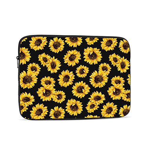 13 15 Inch Laptop Sleeve Bag Compatible with MacBook Pro Air Waterproof Shock Resistant Notebook Protective Bag Carrying Case with Small Case - Hipster Golden Sunflowers