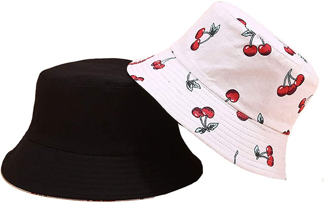 Eohak Fruit Bucket Hats Reversible Women Summer-Fisherman-Packable Protection