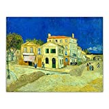 Dvbhd Cuadros decoracionVan Gogh casa de Vincent en Arles (la casa Amarilla) Lienzo artístico Pintur...