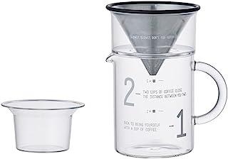 KINTO Coffee Jug Set, Clear, 300 ml, 27651