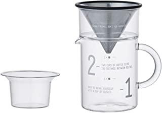 Kinto 300 Milliliter 2 Cup Coffee Jug with Stainless Steel Filter