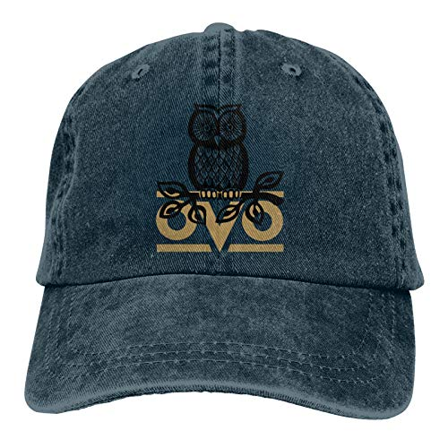 Unisex Baseball Cap OVO Owl Washed Cotton Hat for Men Women