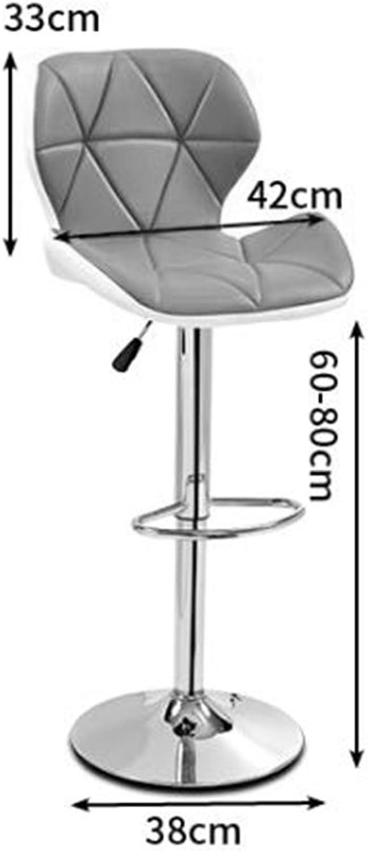 ZHBWJSH Bar Chair Lift Chair Modern Minimalist Home European redating Bar Chair High Stool Front Desk Chair Back Stool (color   orange)