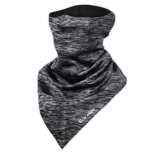 LuTuo Winter-halbe Gesichtsmaske, Halswärmer halbe Sturmhaube,Radfahren Halstuch,Skifahren-Dreieck-Halstuch,Warm halten,Reflektierendes Logo Design,Unisex Schleier