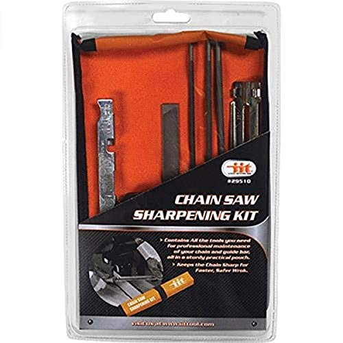 IIT 29510 Chain Saw Sharpening Kit Chainsaw File Tool Set Guide bar File with Instructions,