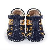 1 par de zapatos de bebé zapatos de bebé zapatos de pie patrón suela antideslizante transpirable bebé unisex cerrado dedo del pie sandalias para verano negro amarillo 11cm