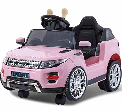Mini Evoque Style 6V Children's Ride-on Electric Car Jeep with 2.4G Parental Remote, Twin Motors, 360 Degree Front Casters - 2 Colours