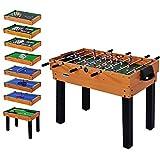 WIN.MAX WinMax Multi Game Jeu etisch Mega 12en 1avec Accessoires, Billard, Babyfoot, Hockey, Tennis de Table, Set de Backgammon et Plus, 106.7x61x81.3 cm