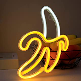 Banana Neon Signs, Novelty LED Neon Light Wall Art Decorative Wall Hanging Sign for Bedroom Kid's Room Party Home Decor US...