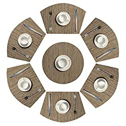 Pauwer Set of 7 Round Table Placemats