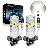 MAXGTRS H3 LED Fog Light CREE Chip with Condenser Lens 1:1 Design - 6000k Xenon White