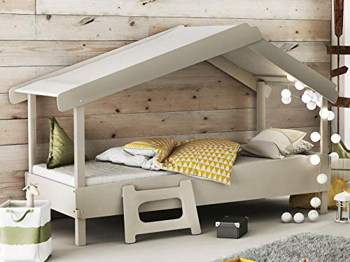 möbelando Kinderbett Betthöhle Einzelbett Baumhausbett Höhlenbett Holzbett Bett Tyler I