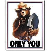 ブリキ看板 Smokey Bear Only You (834) ティンサインプレート ティンサインボード アメリカ雑貨 アメリカン雑貨