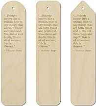 3 x Wisdom Quote by Victor Hugo Birch Bookmarks (BK00006151)