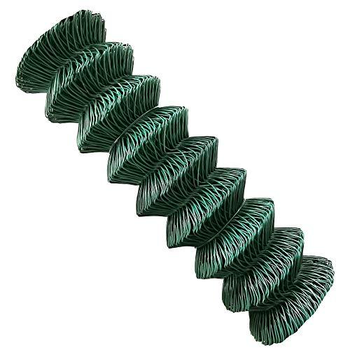 V2Aox Maschendrahtzaun Maschendraht Rolle Gartenzaun Zaun Grün 80 cm 100 cm 125 cm 150 cm 15 m 25 m Viereckgeflecht, Höhe:80 cm, Länge:25 m