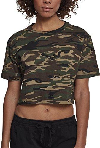 Urban Classics Damen Ladies Short Oversize Tee T-Shirt, Mehrfarbig (Wood Camo 00396), X-Small (Herstellergröße: XS)