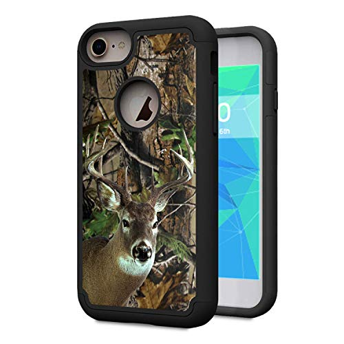 iPhone 7 Case,iPhone 8 Case,Spsun Dual Layer Hybrid Hard Protector Cover Anti-Drop TPU Bumper for Apple iPhone 7 / iPhone 8 4.7 inch,Deer Hunting Camo