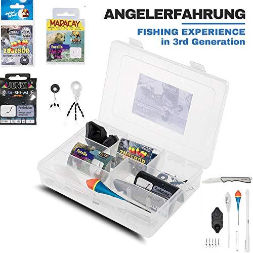 MiRoeFishing Forellenset - Angelset - spezielle Produkte für div. Angelmontagen und Ruten.Forellenbox mit Pose - Wirbel - Haken etc. Neu!
