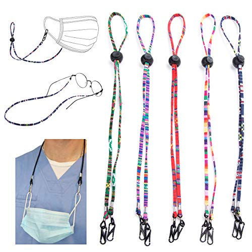 Mask Lanyard for Kids,Mask Leash with Clip,Mask Leash Lanyard,Mask Leash Break Away for Kids//Teens//Adults Seniors 9 Pcs