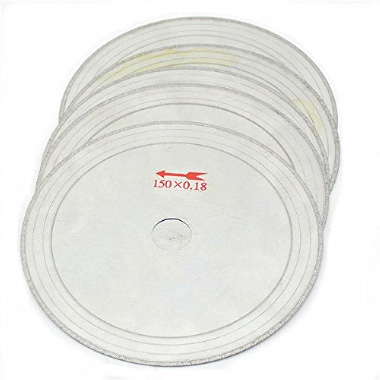 Wuchance 10 Stücke 6 Zoll 0,43mm Super-Thin Diamant Lapidar Sgebltter 150mm x 20mm Edelsteine Trennscheibe