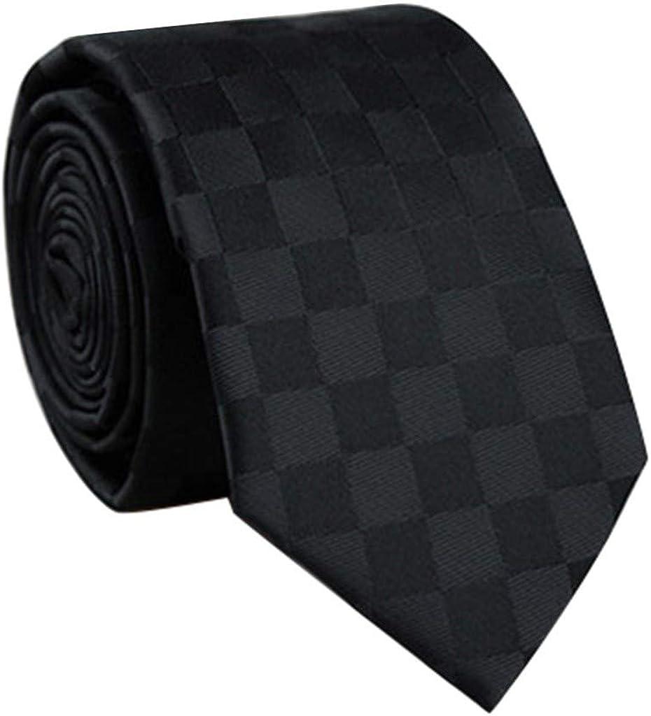 Dumanfs Casual Slim Plain Mens Solid Color Skinny Necktie Party Wedding Tie Smooth Narrow Tie