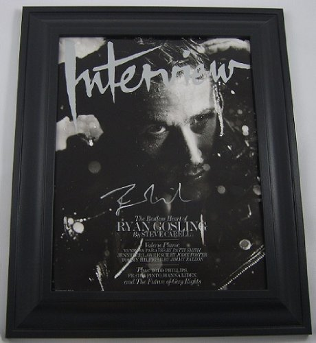 The Notebook Ryan Gosling Hand Signed Autographed Interview Magazine Custom Framed Loa