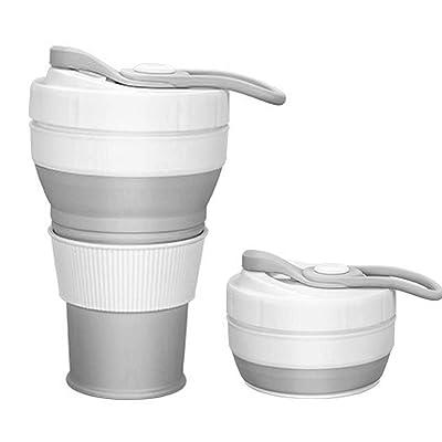 Collapsible Travel Coffee Mug 15oz Food Grade S...
