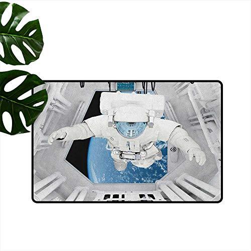 RenteriaDecor - Grazioso zerbino con attacchi di Alieno, Uniforme terrificata, Donna Umana Contro Mostro Sci Fi Discovery, Tappeto per la cameretta dei Bambini, style03, 20'x31'(W50cm x L80cm)