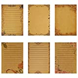 NUOBESTY 6 set carta da lettere e buste set carta da lettere vintage in carta kraft per uf...