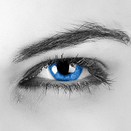 kontaktlinsen ohne stärke blau