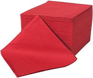 Servilletas de celulosa rojo - doble capa, 24x24 (100 piezas)
