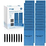 Fette Filter - 24 Pack & 8 Mounting Bands Compatible with MultiFit VF2000. Replacement Filter with Mounting Band for Husky, Stinger, and Bucket Head Vacuums HV0200, BH0100, WD2000, WD2010, WD2025.