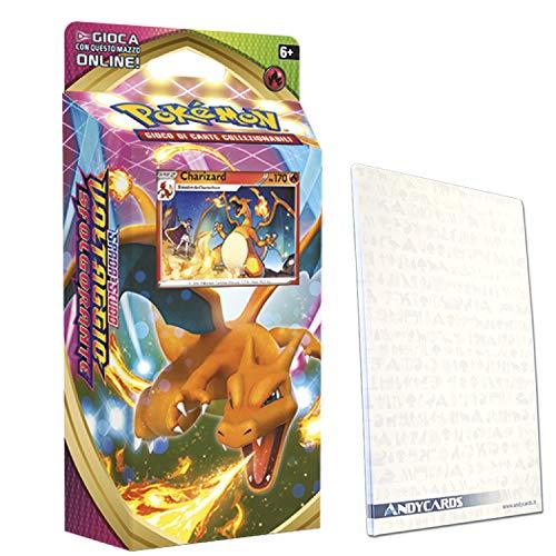 Mazzo CHARIZARD Spada e Scudo Voltaggio Sfolgorante - Mazzo da 60 Carte Pokémon in ITALIANO + Segnapunti Andycards