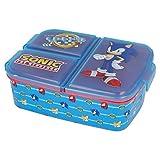 Sonic | Sandwichera con 3 Compartimentos para niños - lonchera Infantil - Porta merienda - Fiambrera Decorada