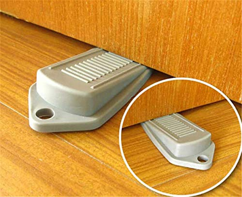 1pc Rubber Door Stopper Wedge Block Guard Wind Dust Blocker Stopper Protector for Home Children Office with Stainless Steel Han