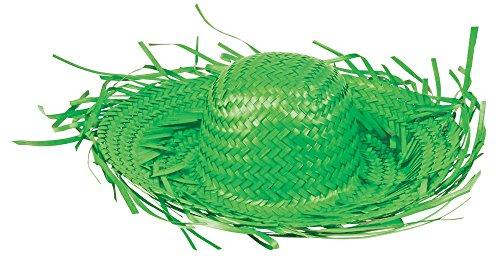 Das Kostümland Sombrero Hawaii del Mar del Sur, sombrero de paja del Caribe, Hula Jamaica, para jardinero, disfraz de espantapájaros, muchos colores verde Talla única