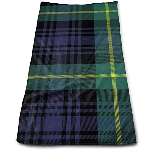 Hipiyoled Gordon Tartan Fabric Texture Plaid Pattern Toallas