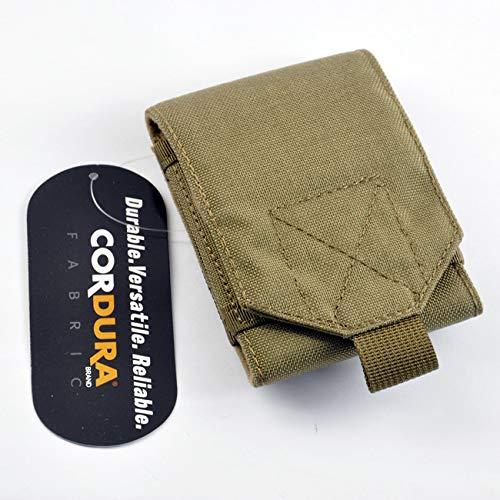 Patch Nation Cas de Champ Militaire de Téléphone de Molle Tactique de Tissu en Nylon 1000D (Terre Sombre)