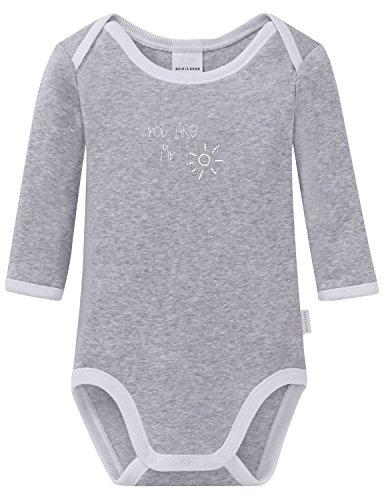 Schiesser Baby Body 1/1, Gris mélangé (202), 62 cm Bébé garçon