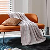 Bedsure Fleece Sherpa Throw Blanket - Super Fuzzy and Soft Throw Blanket for Couch, Lightweight Warm Blanket for All Seasons, 2 Tone Ombre Gradient Dusty Rose (Throw Size, 50x60 inches)