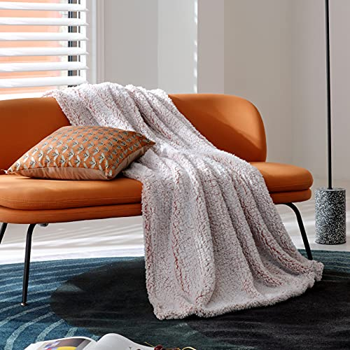 Bedsure Fleece Sherpa Throw Blanket - Super Fuzzy and Soft Throw Blanket for Couch, Lightweight Warm Blanket for All Seasons, 2 Tone Ombre Gradient Dusty Rose (Throw Size, 50x60 inches) is $20.99 (36% off)