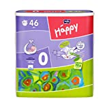 Bella Baby Happy Windeln, Größe 0 (Before Newborn), < 2kg, 6er Pack (6 x 46 Windeln)