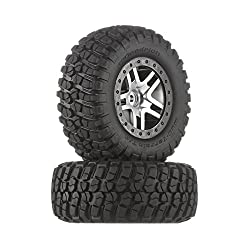 top 10 traxxas rc tires Traxxas 6873 BF Goodrich Mud terrain T / A KM2 tires, satin chrome glued, black …