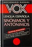 Sinonimos Y Antonimos Vox Diccionario Manual De La Lengua Española