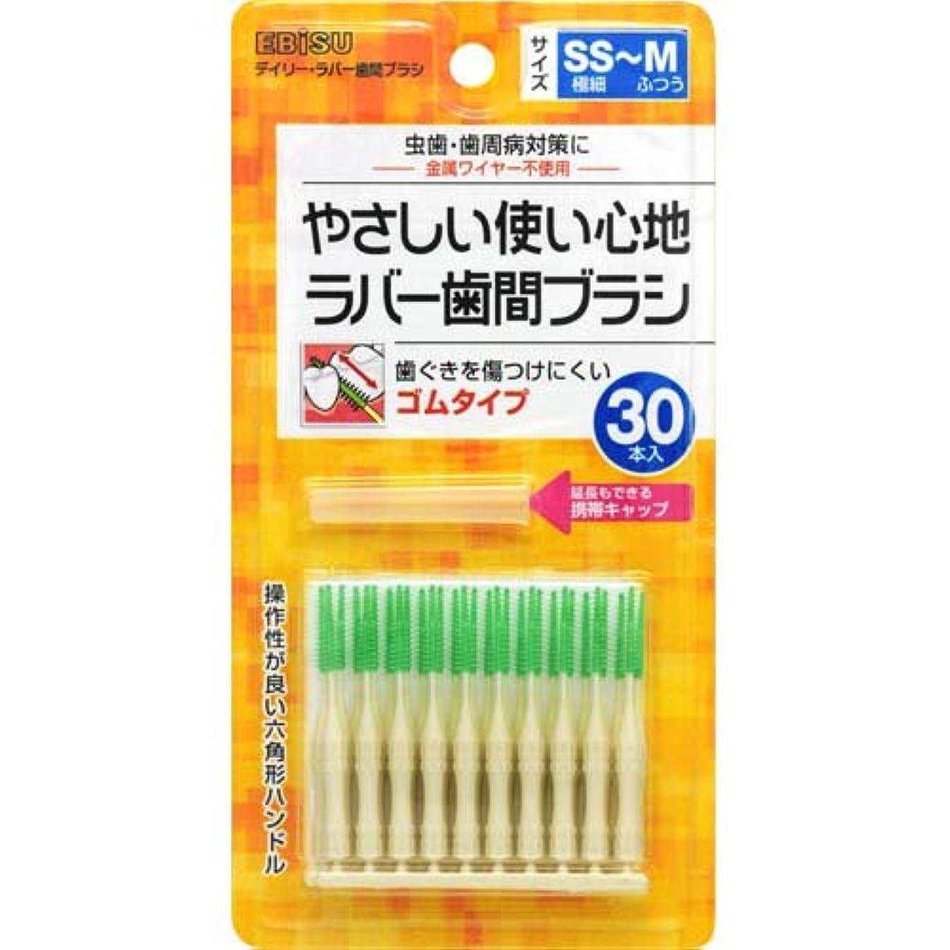 間欠化合物アシスタントデイリーラバー歯間ブラシ SS-M 30本入